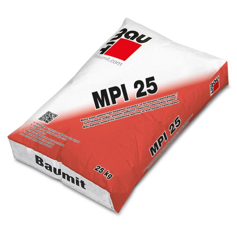 Баумит MPI 25 – варо-циментова машинна мазилка/ 40кг. цена