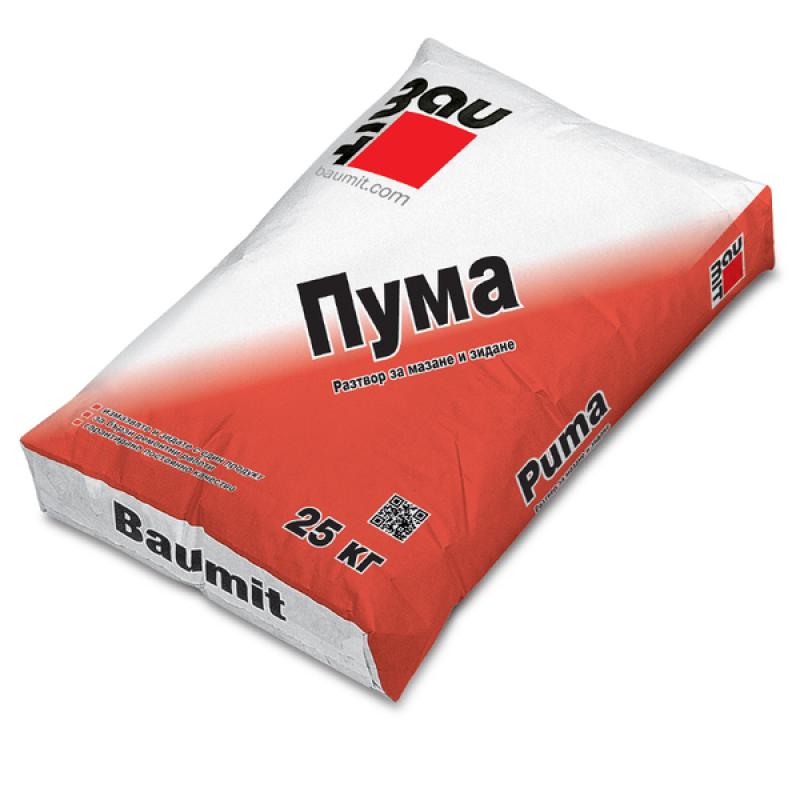 Баумит  ПУМА /Дуо Класик -зидарски разтвор/ 25 кг. цена