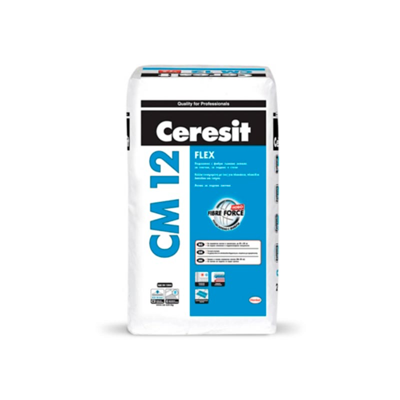 Ceresit CM 12 FLEX Еластично лепило за плочки 25 кг. цена