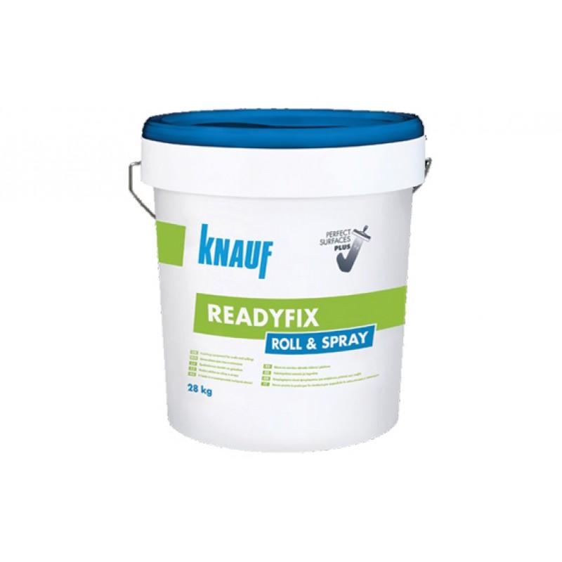 Knauf Readyfix Roll & Spray - Финишна смес за стени и тавани 28кг цена