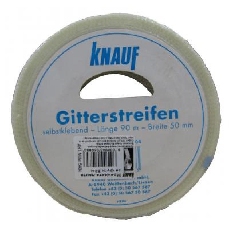 Самозалепваща фугопокривна лента Knauf тип мрежа, 90м.  цена