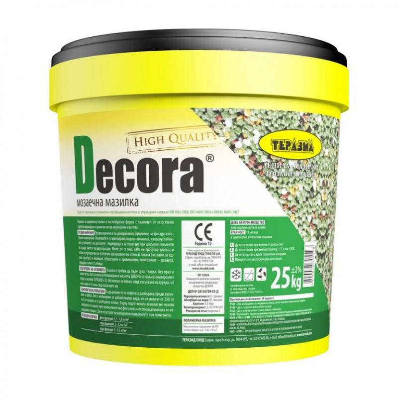 Decora – декоративна мозаечна мазилка Теразид цена