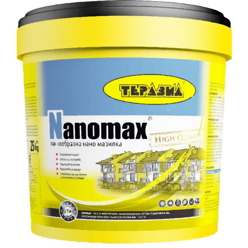 Nanomax – готова пастообразна нано мазилка Теразид цена