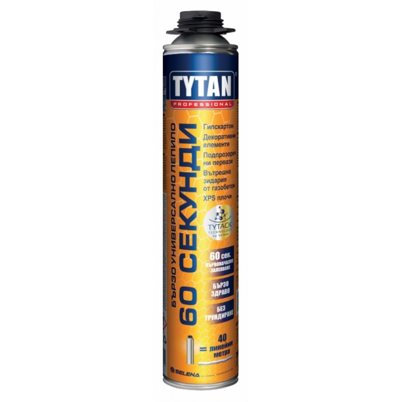 Пистолетно полиуретаново лепило 60 секунди - Tytan цена