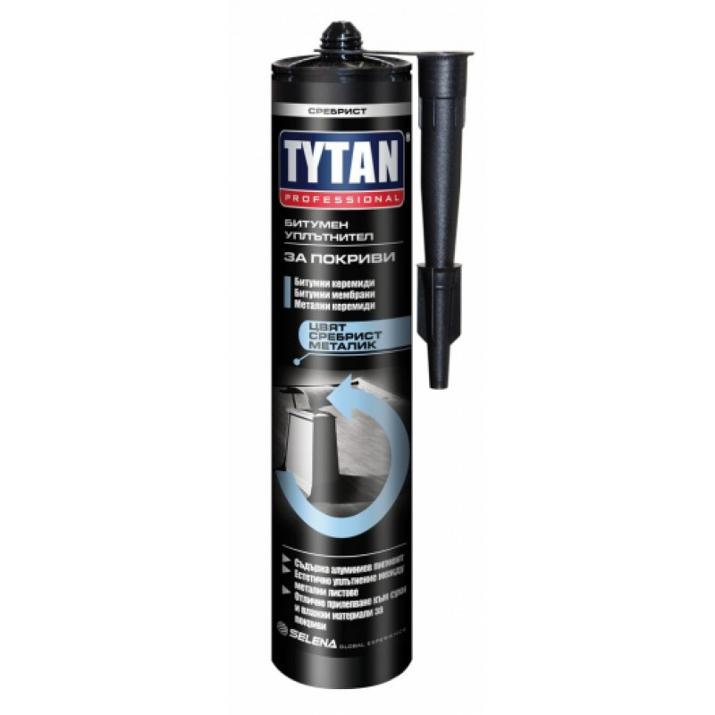 Сребрист уплътнител за метални покриви -280 мл Tytan цена
