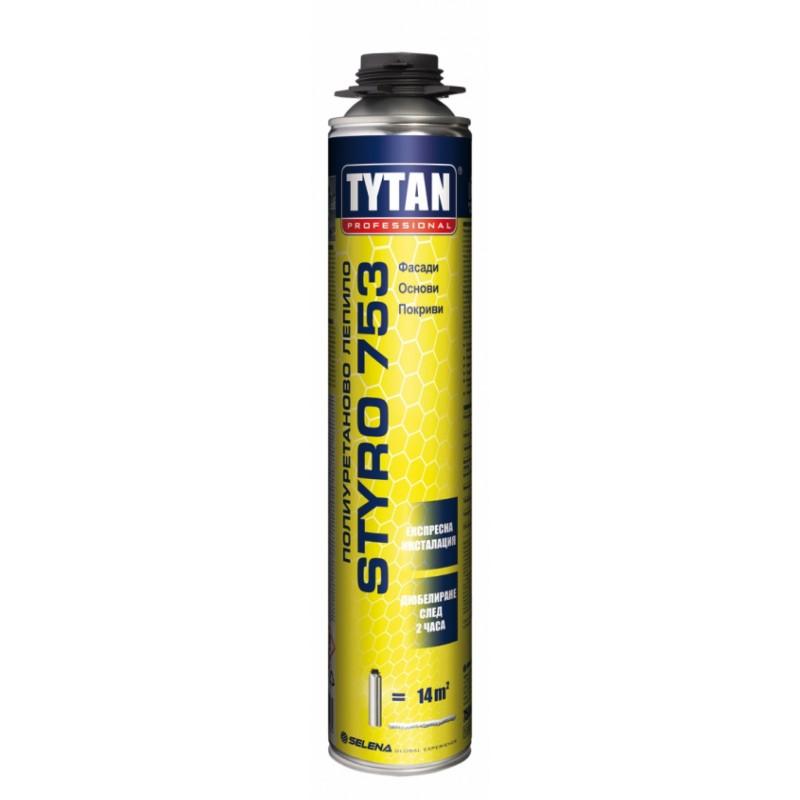 Пистолетна пяна O2 STYRO 753 - 750мл Tytan цена